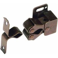 Twin Roller Catch - Spring Loaded, Brown Finish