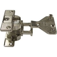 Regula 180 Degree Twin Hinge with Exposed Axle - Screw Fixing, Side Panel Mounting