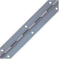 1.8m Aluminium Continuous Hinge, 25-38 mm open width