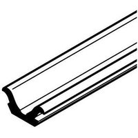 Plastic support track with flanged edges, press fit, 11 x 5 mm