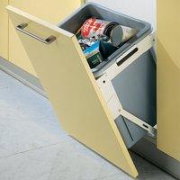Tilting Waste Bin System for Kitchen Cabinets, 30 Litres
