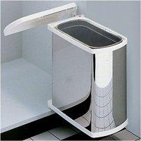 Uno Door Mounted Stainless Steel 18 Litre Waste Bin System