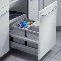 SEPARATO K 450 mm waste bin, 2x 8, 1x 18 litre bins