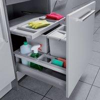 SEPARATO K 600 mm waste bin, 2x 8, 1x 18 litre bins