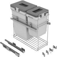 Kombi pull-out waste bin, 1x 24, 1x 8 litre