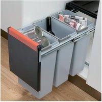 Cube 30 pull-out waste bin, 3x 10 litre bins