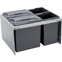 CUBE 600 S waste bin system, 2x 12, 2x 7.5 litre bins