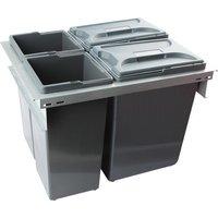 BOXIT 600 waste bin system, 2x 15.5, 2x 9.5 litre bins