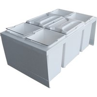 CUBE 800 S waste bin system, 2x 12, 4x 7.5 litre bins