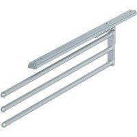 3-Rail Aluminium Towel Rail for Wall or Shelf Mounting