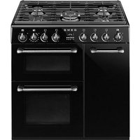 Smeg Burghley dual cavity cooker with gas hob 900mm