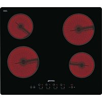 Smeg Cucina touch control ceramic hob with straight edge glass 600mm