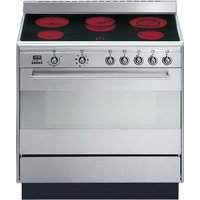 Smeg Concert cooker with multifunction oven and ceramic hob 900 mm