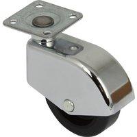Single Wheel Enclosed Wheel Swivel Castor - 50kg Load Capacity, Plate Fixing, 50mm Diameter Wheel