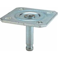Mounting Caster Pin with Plate - 11mm Diameter