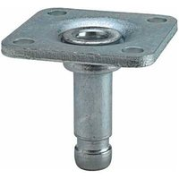 Mounting Caster Pin with Plate - 10mm Diameter