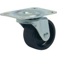 Single Wheel Swivel Castor - 15kg Load Capacity, Plate Fixing, 30mm Diameter Wheel