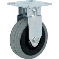 Single Wheel Fixed Castor - 40kg Load Capacity, Plate Fixing, 50mm Diameter Wheel