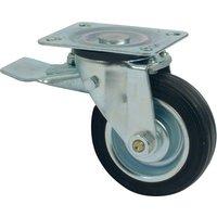 50kg Heavy Duty 80mm Commercial Trolley Wheel with Foot Brake
