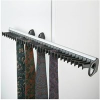 Pull-Out Gliding Tie Rack with 32 Tie Holders, for Inside Wardrobes