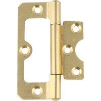 104 Hurlinge flush hinge, mild steel, 76 x 34 mm