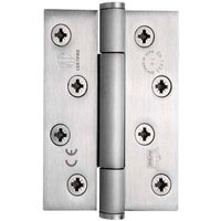 Stainless steel, fixed pin, 3 knuckle, concealed bearing butt hinge, 102 x 76 mm