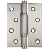 Stainless steel, fixed pin, 3 knuckle, shrouded bearing butt hinge, 102 x 76 mm