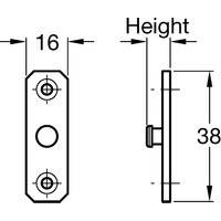 Stud Plate for Concealed Window Restrictors