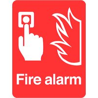 Borderless 'Fire Alarm' Sign