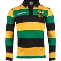 Northampton Saints 2017/18 Supporters L/S Cotton Rugby Shirt