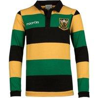 Northampton Saints 2017/18 Kids Supporters L/S Cotton Rugby Shirt