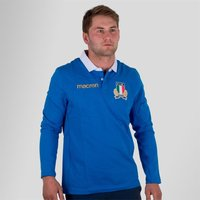Italy 2017/18 Home L/S Cotton Replica Rugby Shirt