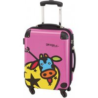 Check In Kuh Family 4-Rollen-Kabinentrolley XS 55 cm - pink