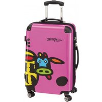 Check In Kuh Family 4-Rollen-Trolley L 66 cm - pink