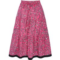 Atty Geo Giraffe Tiered Cotton Skirt