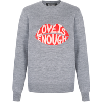 Mia 'Love is Enough' Intarsia Slim-Fit Jumper