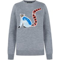 Mia Sequin Lemur Slim-Fit Jumper