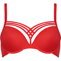 dame de paris Push-up BH | wired padded red - 80C in 80C