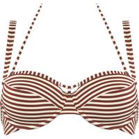holi vintage Plunge Balconette Bikini-Oberteil | wired padded red-ecru - 85E in 85E