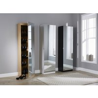 Product photograph showing 180cm Mirrored Shoe Cabinet