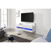 Product photograph showing Galicia 120cm Wall Tv Unit With Led