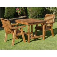 Product photograph showing Dales 2 Seat Square Table Bistro Set