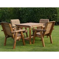 Product photograph showing Dales 4 Seat Square Table Bistro Set