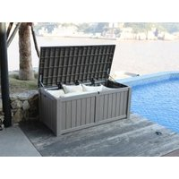 Product photograph showing 450 Litre Deluxe Storage Box - Grey