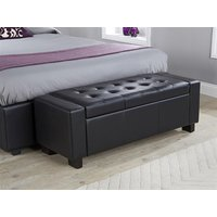 GFW Verona Ottoman Bench Blanket Box - Faux Leather