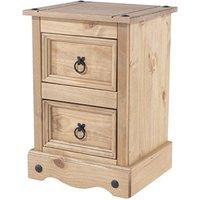 Product photograph showing Brazil Original 2 Drawer Petite Bedside Cabinet