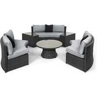Product photograph showing Half Moon Sofa Set