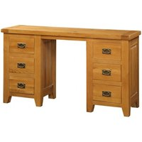 Product photograph showing Acorn Solid Oak Dressing Table 6 Drawers