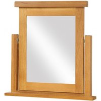 Product photograph showing Acorn Solid Oak Dressing Table Mirror