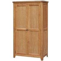 Product photograph showing Acorn Solid Oak Wardrobe 2 Door Full Hanging